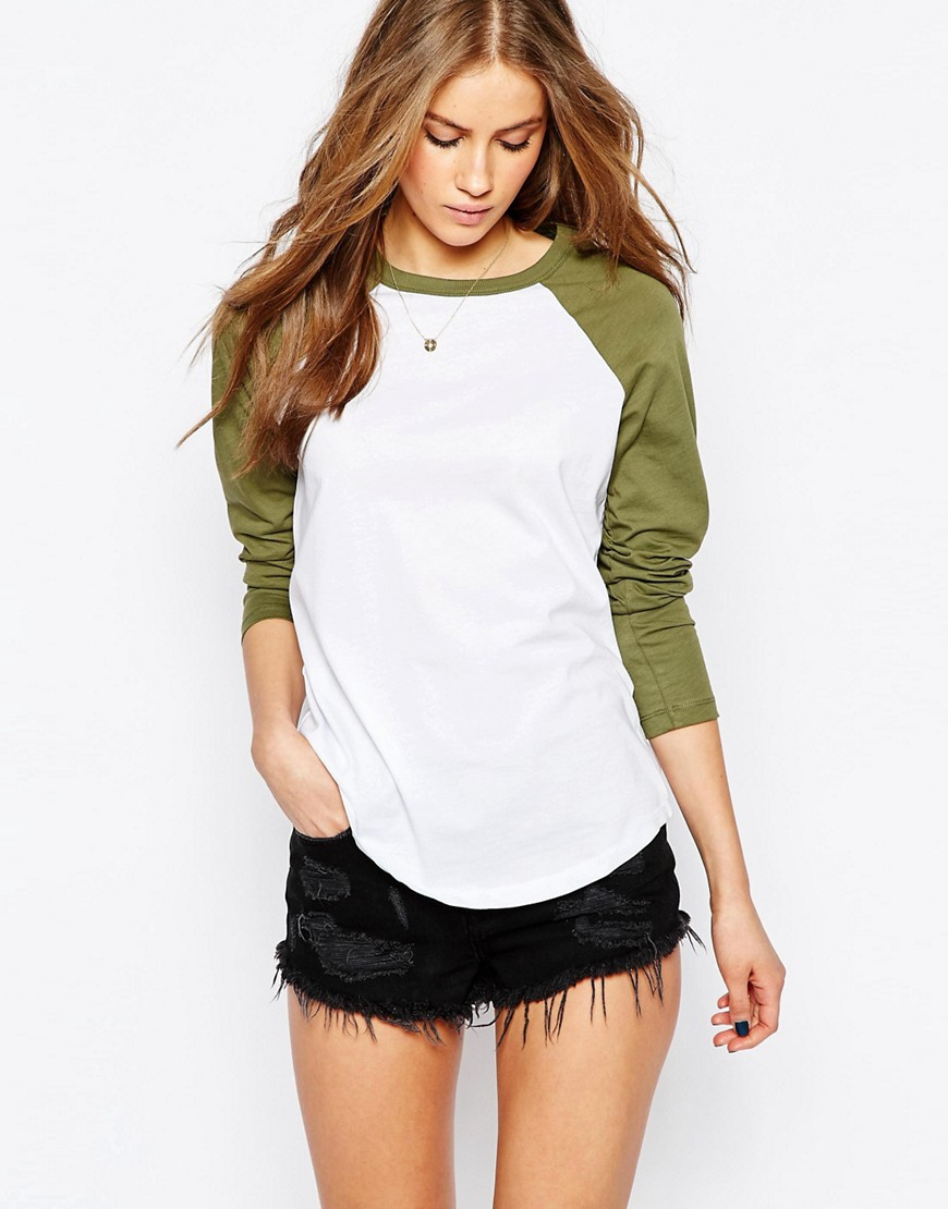 Image 1 ofASOS T-Shirt With Contrast Sleeve