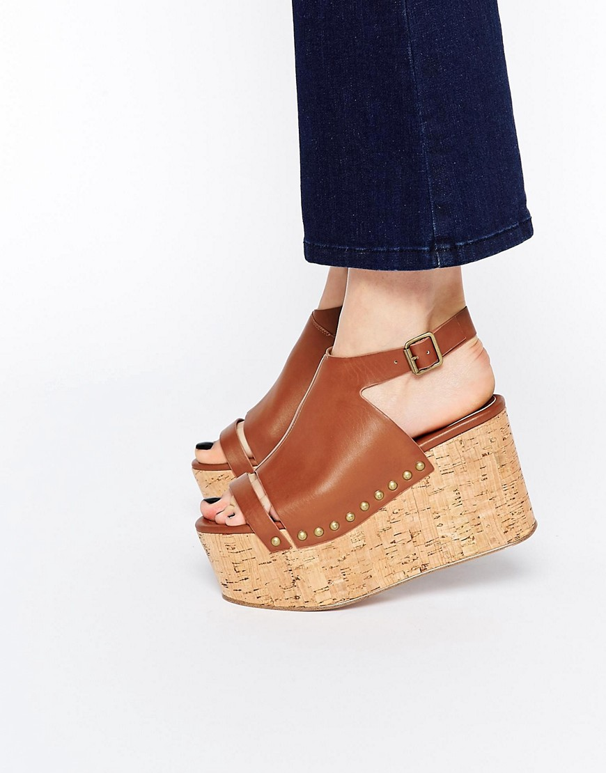 Image 1 of ASOS HIT AND MISS Flatform Sandals