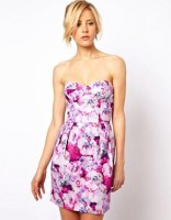 Image 1 of ASOS Moulded Hip Dress In Tapestry Print