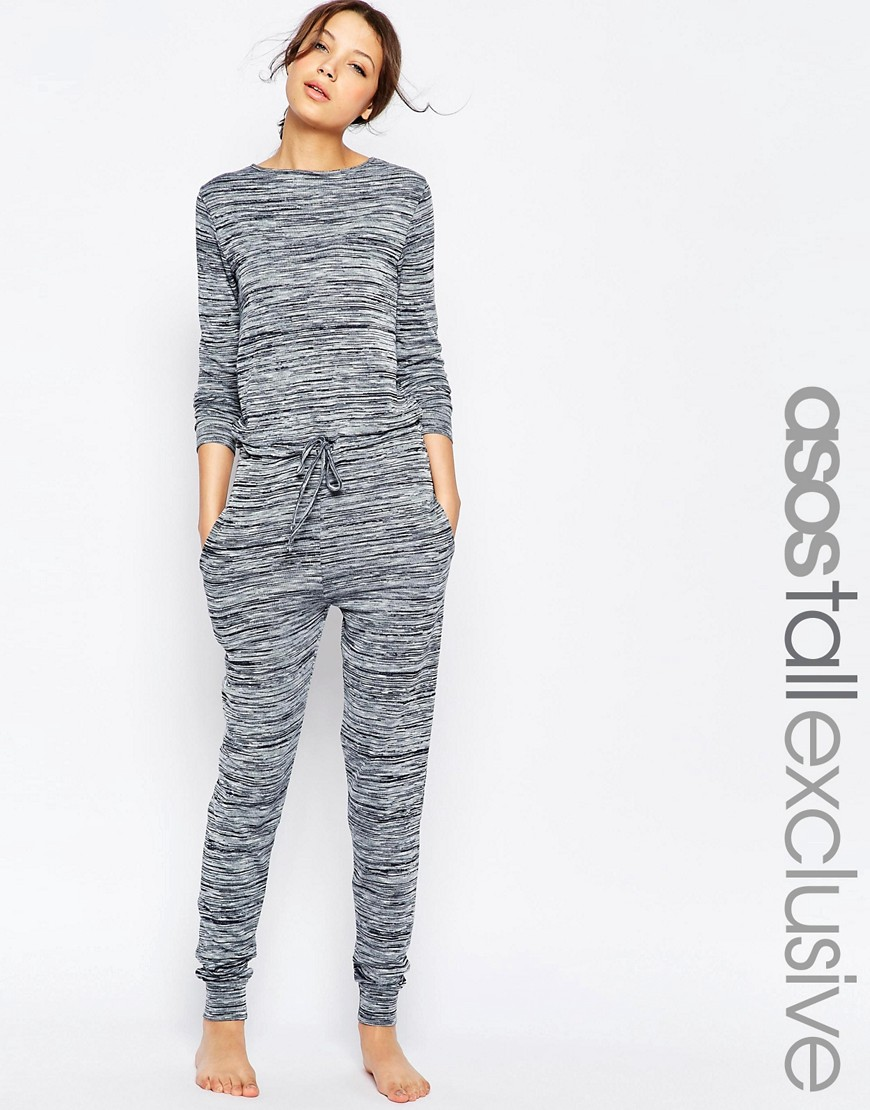 Image 1 of ASOS TALL LOUNGE Jumpsuit In Marl