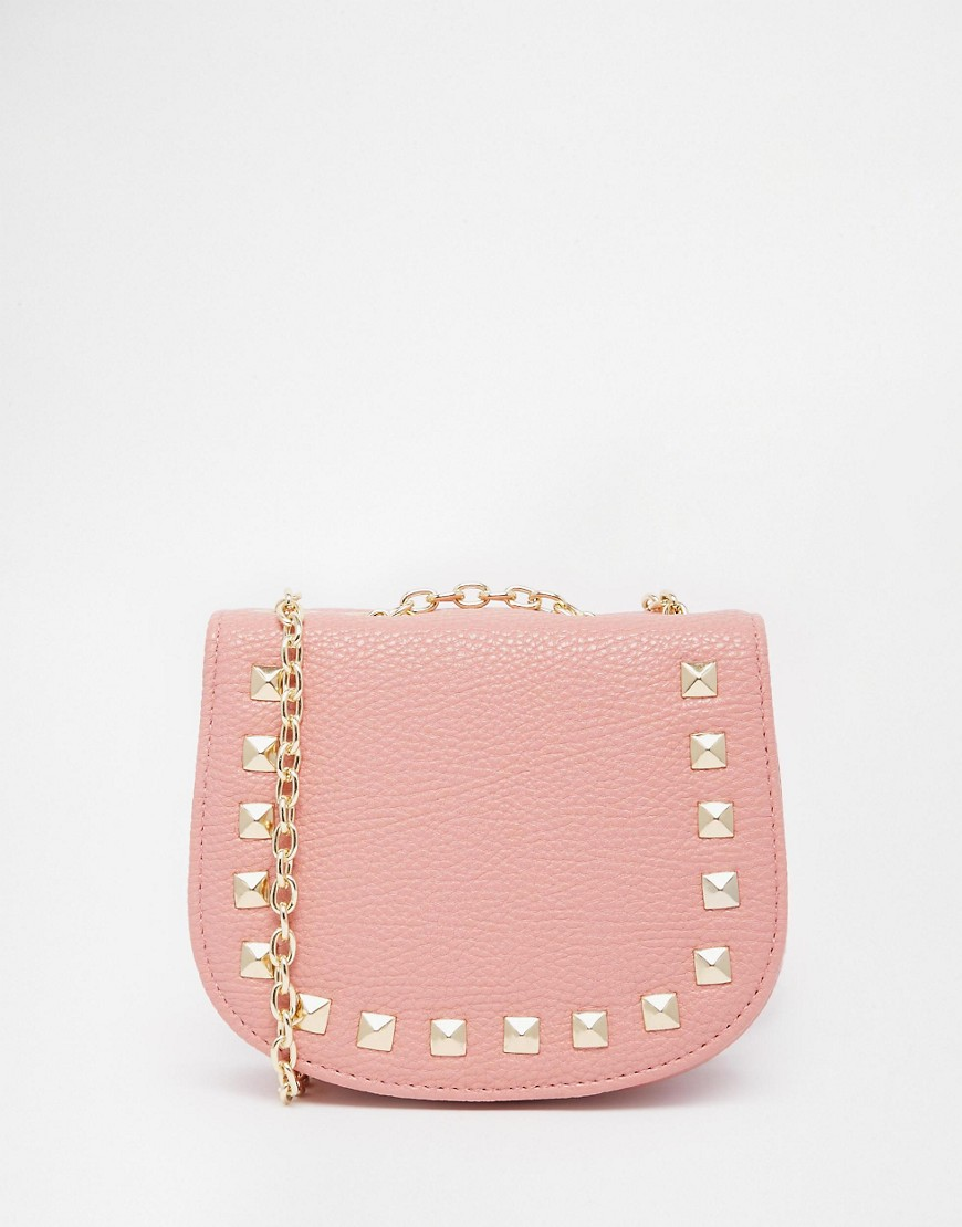 Image 1 of ASOS Mini Saddle Cross Body Bag With Studs
