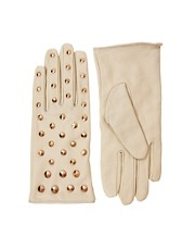 ASOS Leather All Over Stud Gloves