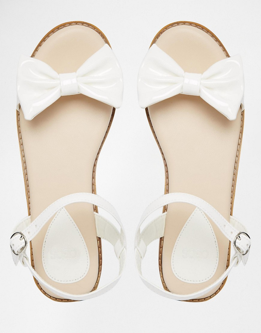 Image 3 of ASOS FUN DAYS Two Part Bow Sandals