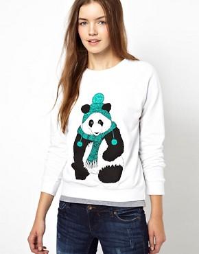 Image 1 - Brat & Suzie - Pull de Noël imprimé panda