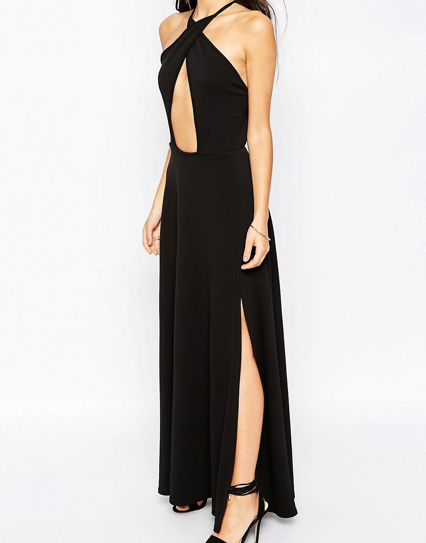 Image 3 of Club L Maxi Dress with Keyhole Front