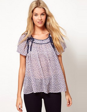 French Connection Calypso Flower Silk Top