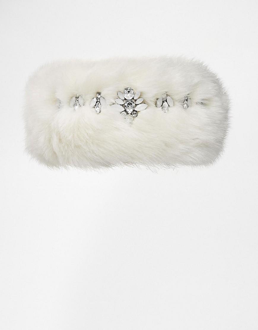 Image 2 ofRiver Island Faux Fur Embellished Headband