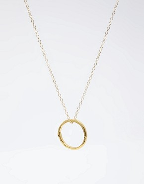 Image 4 of Gorjana 18ct Gold Plated G Pressed Necklace