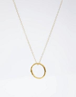 Image 4 ofGorjana 18ct Gold Plated G Pressed Necklace