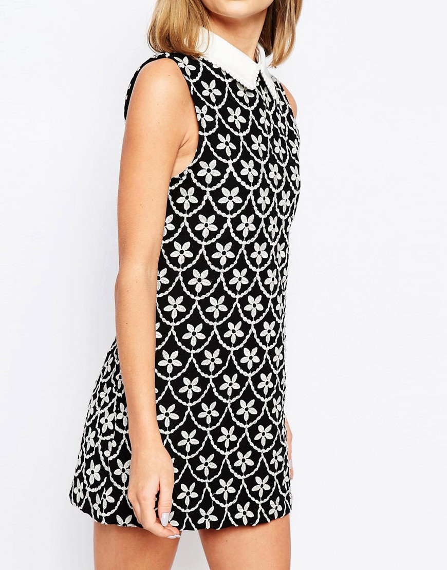 Resultado de imagen de Sister Jane Crescent Moon Wrap Collar Dress In Embroidered Floral