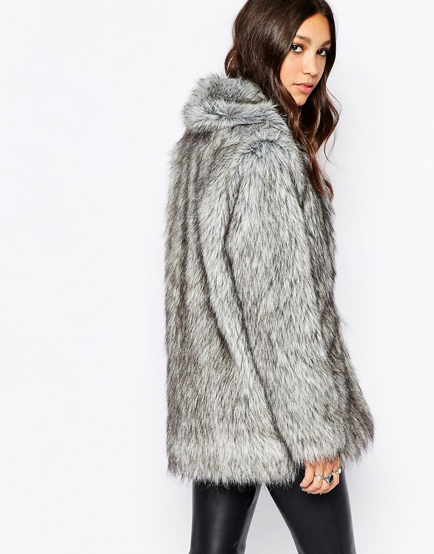 Image 2 of Religion Fluffy Faux Fur Coat