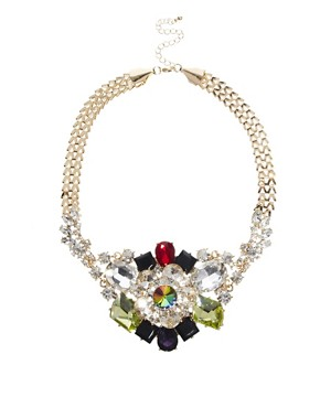 Image 1 of ASOS Premium Night Garden Necklace