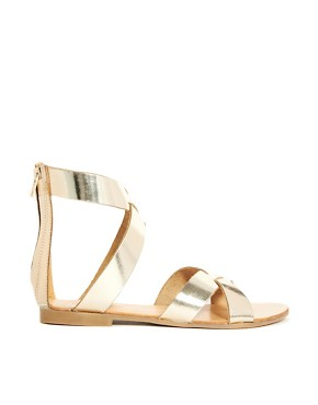 London Rebel Gladiator Flat Sandals