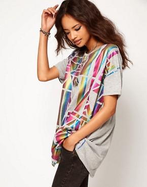 Image 1 - ASOS - T-shirt avec empiècement à motif hologramme
