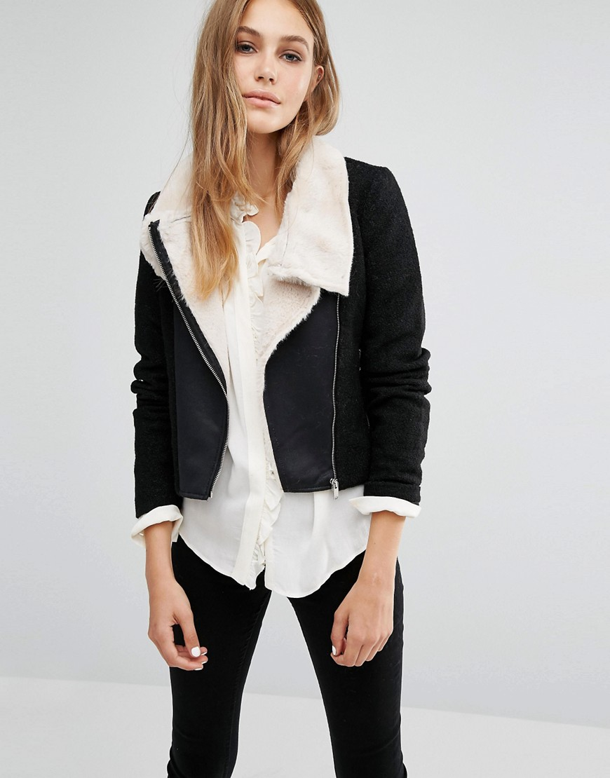 Vero Moda Calm Short Faux Leather Jacket