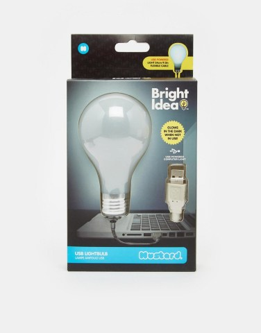 Image 1 of Bright Idea USB Lightbulb Unique And Quirky Gift Ideas Any Odd Person Will Appreciate (Fun Gifts!)