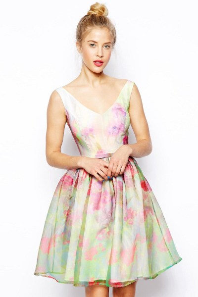 Organza Floral Prom Dress £85 from ASOS Salon
