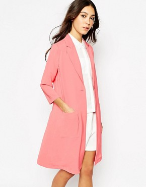Image 1 of Vero Moda Long Line Trench Coat