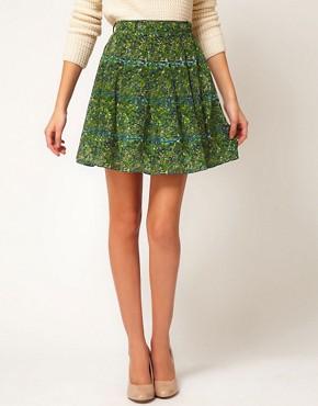 Image 4 ofAntipodium Powerscroft Skirt in Printed Silk