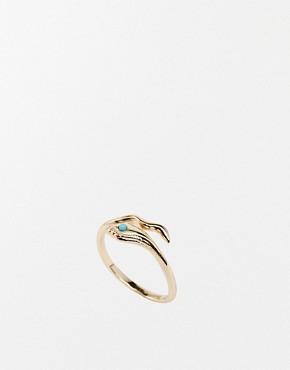 Image 1 ofOrelia Wunderlust Open Snake Ring