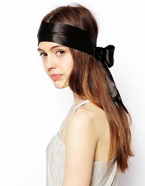 Imagen 2 de Banda para el pelo con lazo de seda grande de ASOS