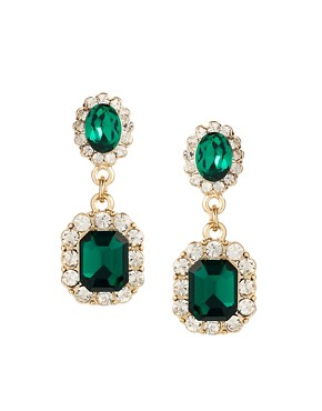 Image 1 of ASOS Vintage Look Jewel Earrings