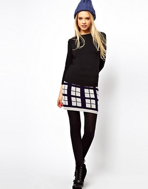 ASOS Knitted Check Skirt