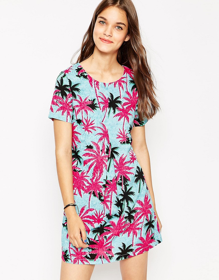 Image 1 of Daisy Street Shift Dress In Tropical Print