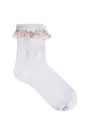 Image 3 of ASOS Floral Trim Ankle Socks
