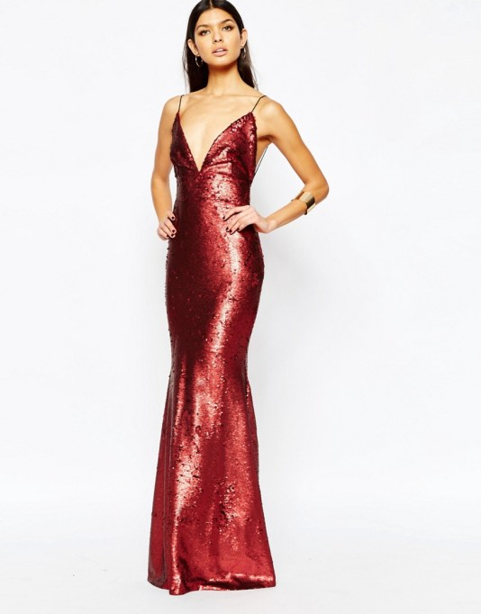 Image 2 ofClub L Showstopper Open Back Sequin Maxi Dress With Fishtail
