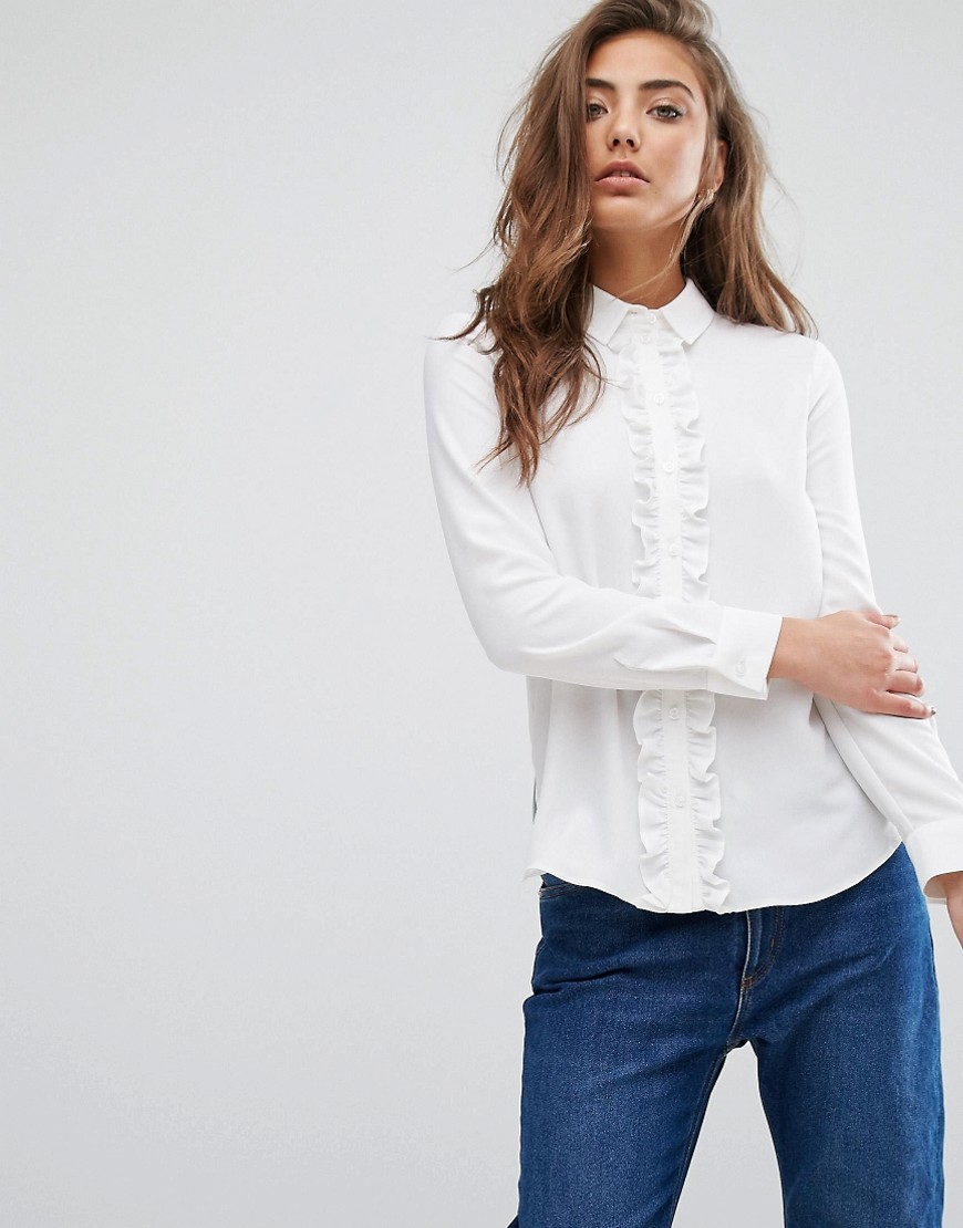 Miss Selfridge Frill Front Blouse
