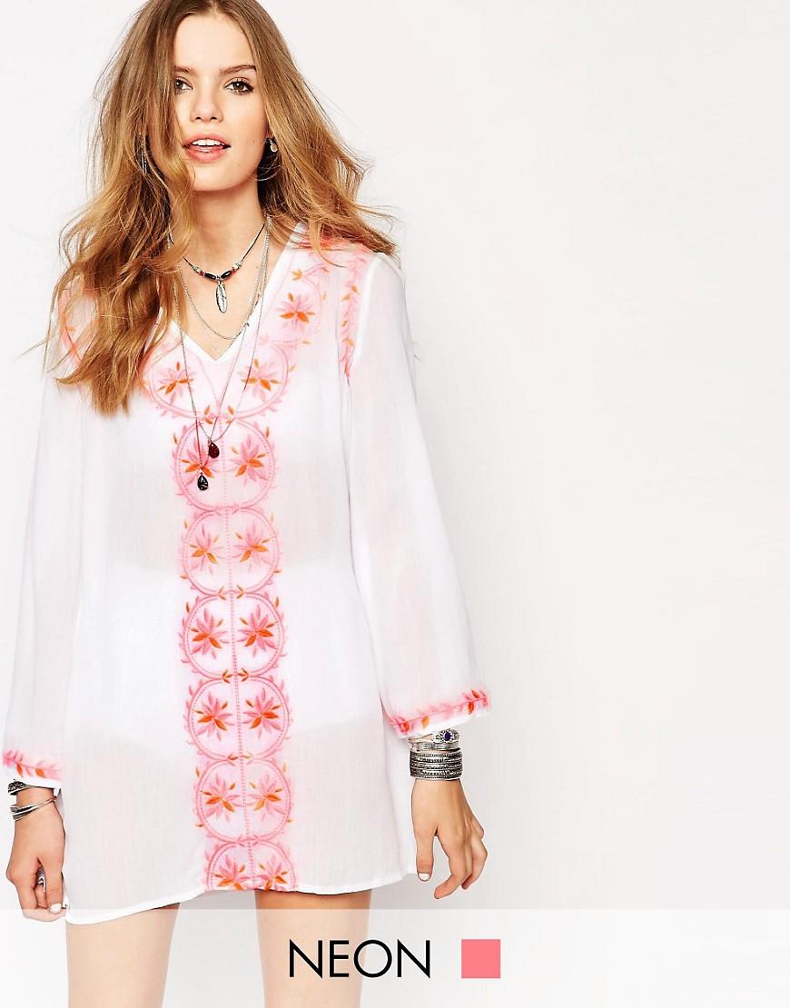 Image 1 - Glamorous - Caftan oversize à broderies de couleur vive