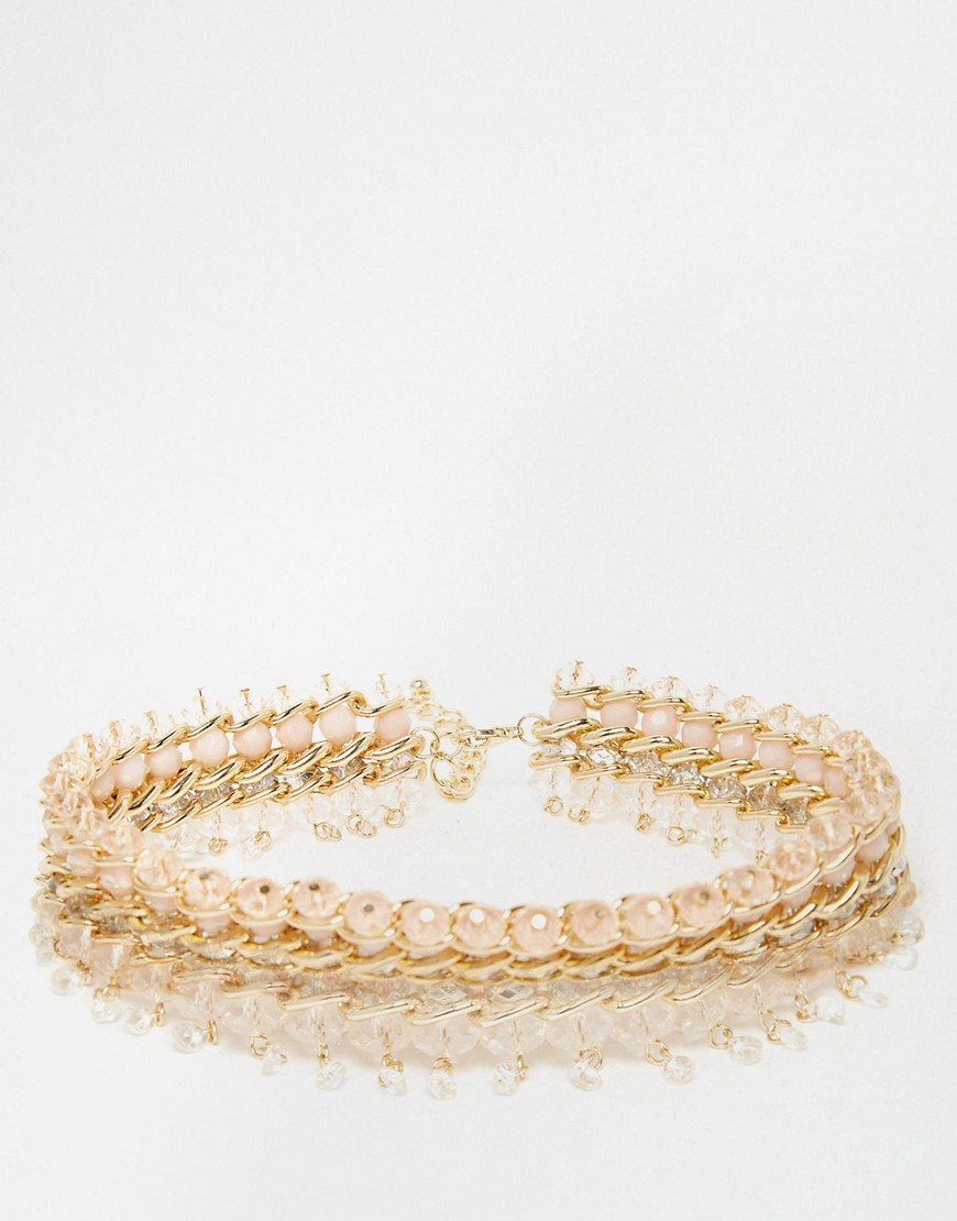 Image 1 ofNew Look Premium Beaded Collar Necklace