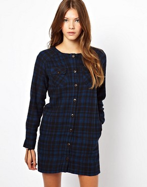 People Tree Brushed Cotton Check Shirt Dress