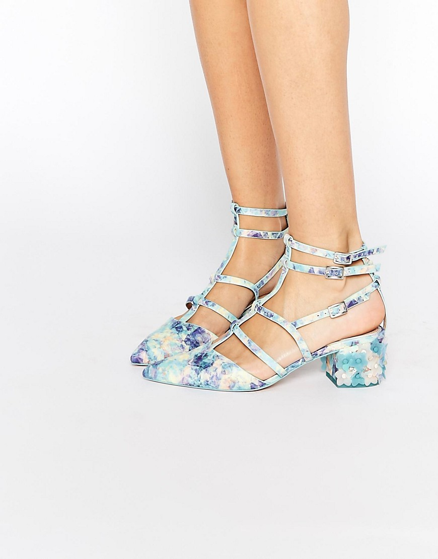 Imagen 1 de Zapatos de tacón con diseño enrejado en punta SPECTACLE de ASOS