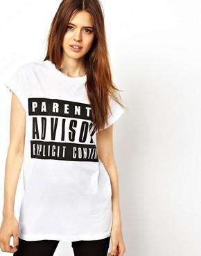 Image 1 ofASOS T-Shirt with Parental Advisory