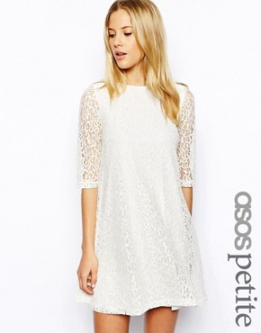 ASOS PETITE Exclusive Lace Swing Dress