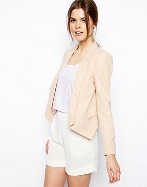 Image 1 of ASOS Blazer with Dropped Hem Detail