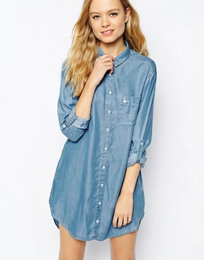 Image 1 of Jack Wills Chambray Shirt Dress