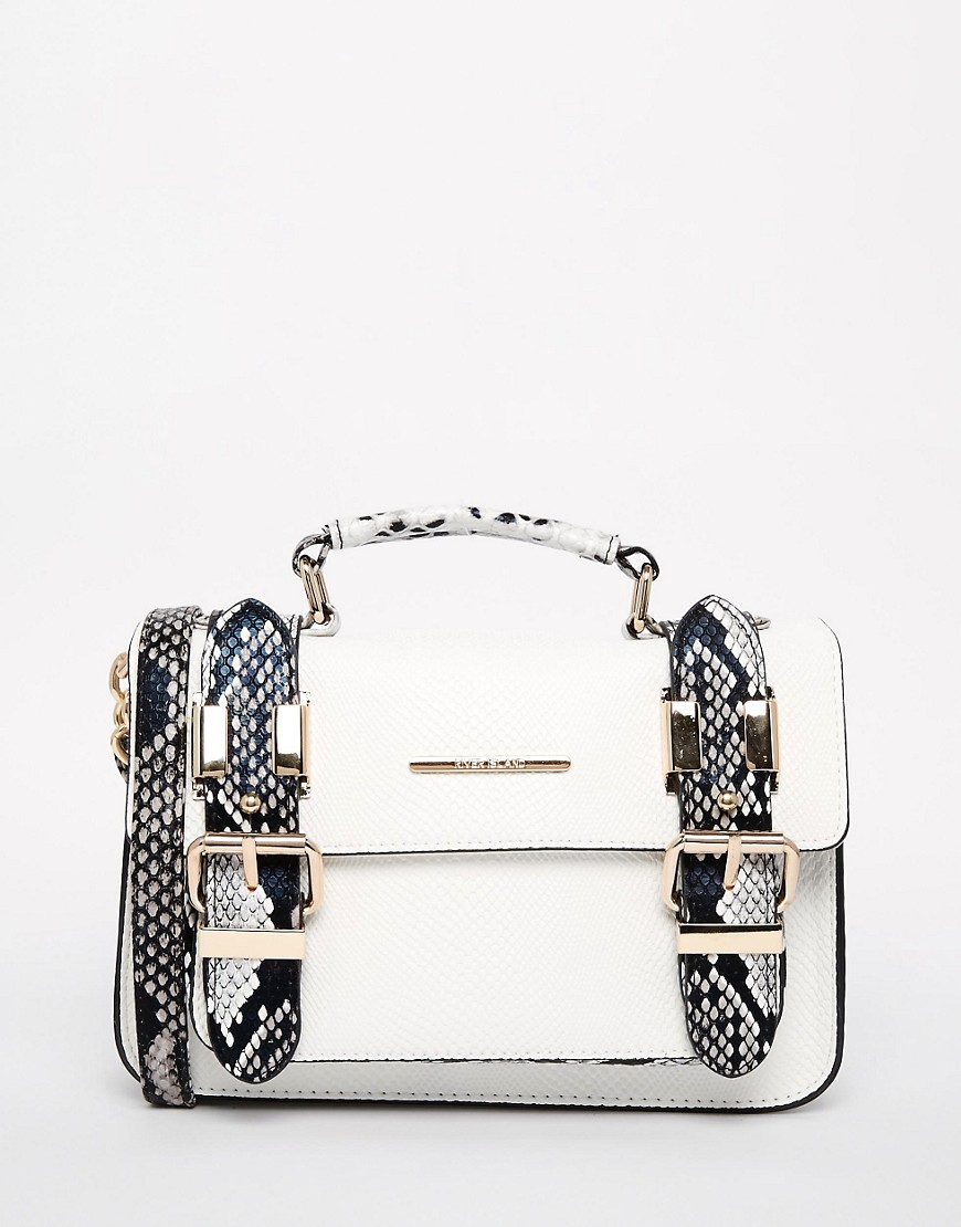 River Island White Mini Satchel With Snake Trim 100 Cheap Thoughtful Gift Ideas For Her Under £20