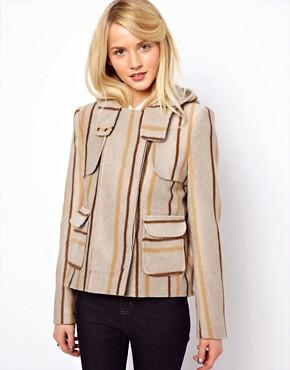 ASOS Blanket Jacket In Stripe