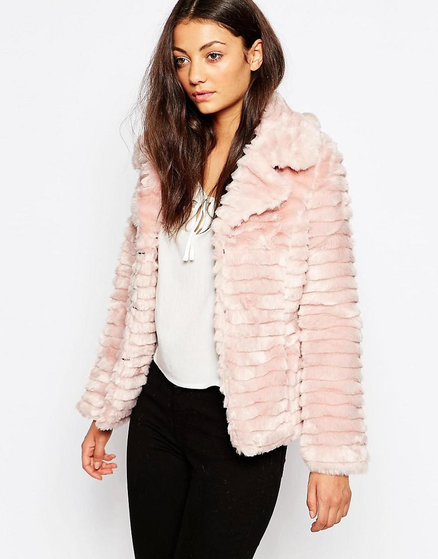 Image 1 ofBrave Soul Short Faux Fur Jacket