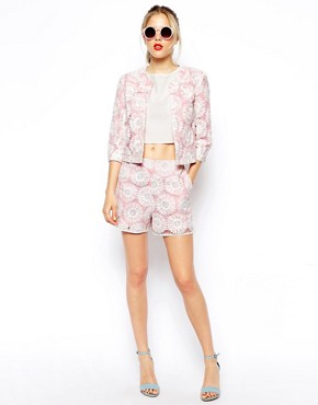 Image 4 of ASOS Blazer in Pastel Lace