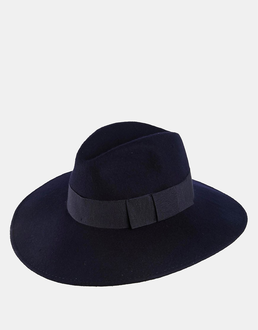 Image 3 of Catarzi Wide Brim Fedora Hat in Marine