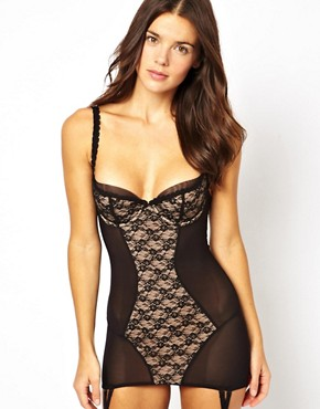 Von Follies By Dita Von Teese Sheer Witchery Longline Corset