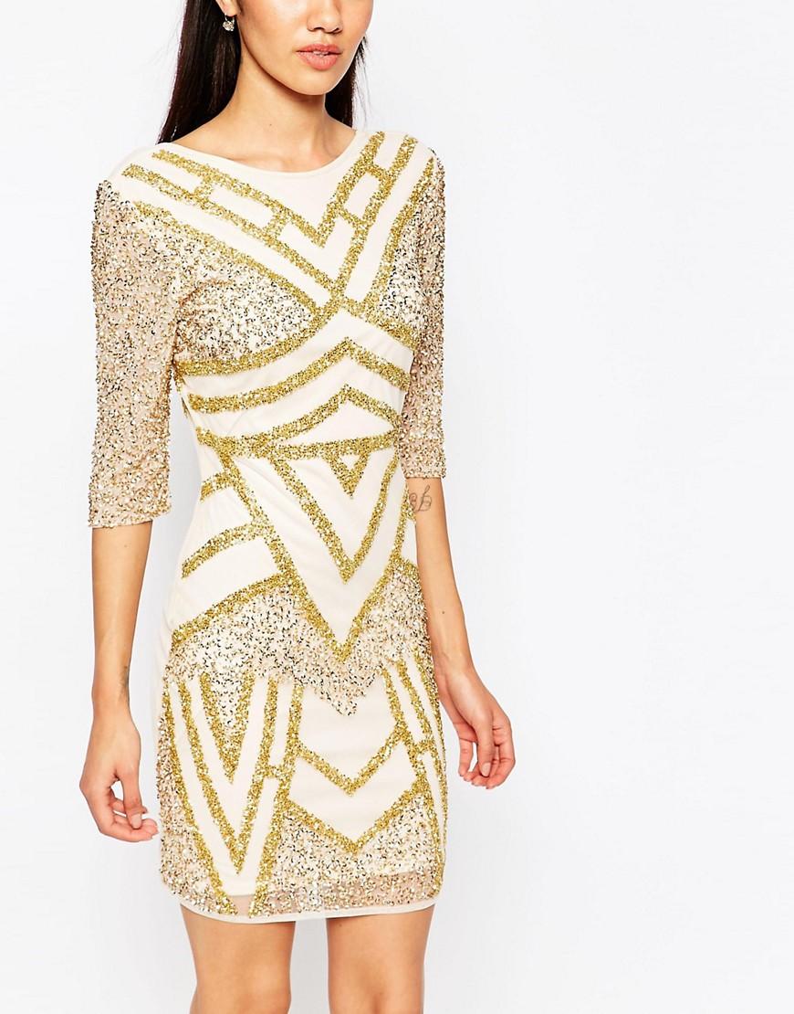 Image 3 ofMaya Petite Embellished Bodycon Dress