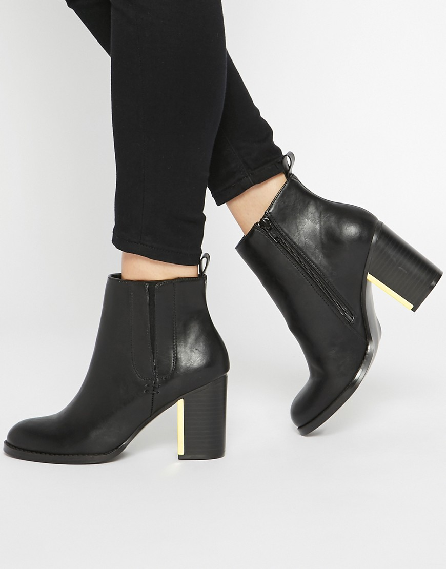 Image 1 ofASOS EVERMORE Metal Detail Ankle Boots