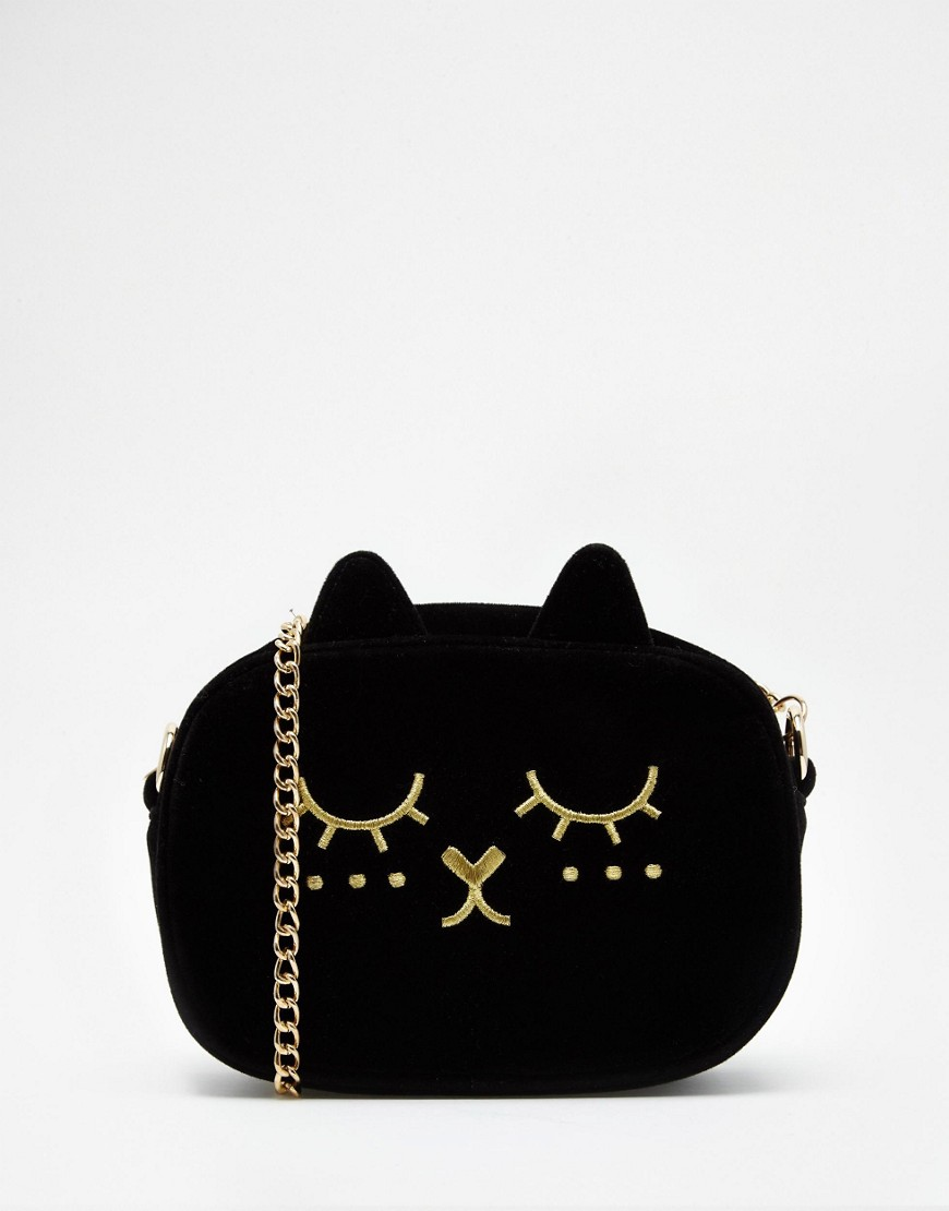 ASOS Cat Velvet Cross Body Bag 100 Cheap Thoughtful Gift Ideas For Her Under £20