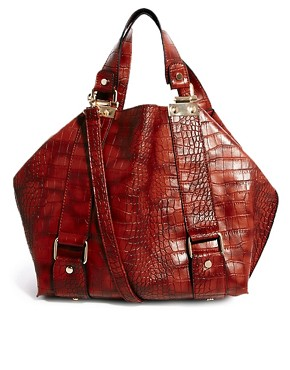 Image 1 of New Look Columbia Croc Print Tote Bag