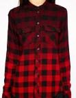 Image 3 ofEsprit Dip Dye Check Shirt